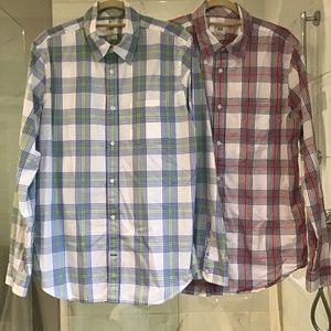 Bundle of 2 Gap Lived-In Wash Shirts